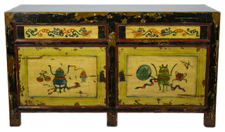 Painted Chinese Motif Sideboard