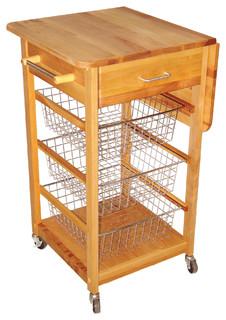 Single Drop Leaf Basket Cart