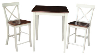 Ralph Counter Table With X-Back Chairs Set of 3