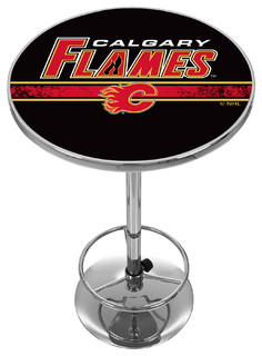 NHL Chrome Pub Table Calgary Flames