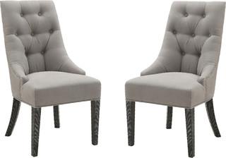 Centennial Dining Chairs Linen Fabric Set of 2