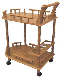 2-Tier Bar Cart w Wine Storage