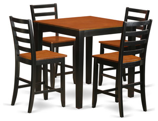 Jasper Counter-Height Dining Table Set Black and Cherry 5 Pieces