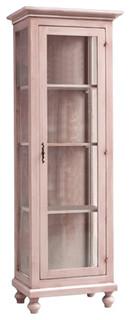 Merlin Mobili 1 Door Cabinet With Glass Shelves.
