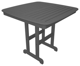 Nautical 42.5 in. Counter Table in Slate Gray