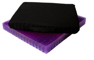Double Purple Seat Cushion With Cover