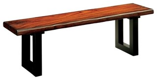 Furniture of America Maddison Dining Bench Tobacco Oak
