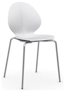 Bess Chair Matt Optic White Chrome Frame