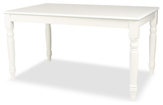 Turin Wood Farmhouse Dining Table White