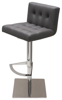 Preston Adjustable Bar Stool Gray