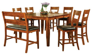 Steve Silver Mango 8-Piece Counter Height Set with Leaf