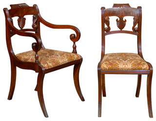 Consigned Set of 8 Regency Dining Chairs