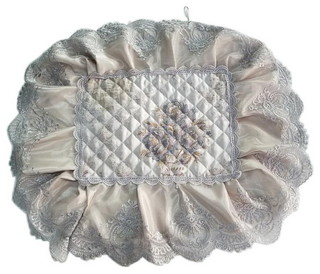 Rectangular Cushion Stool Pad Coffee Color