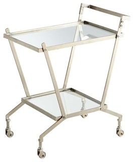 Cyan Design Bar Cart Carrello Nickel