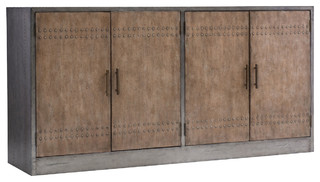 Hooker Furniture Living Room Melange Cooper 4-Door Credenza