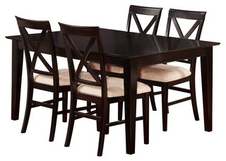"5-Piece Shaker Eco-Friendly Dining Set 48""x36""x29.5"""