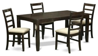 5-Piece Rectangular Kitchen Set With Upholstered Chair Seat