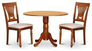 "3-Piece 42"" Diameter Pedestal Dinning Set"