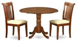 3-Piece Pedestal Dinning Set