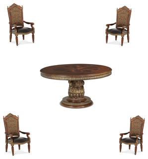 Villa Valencia Round Dining Room Set 5-Piece Set