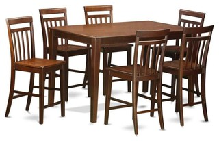7-Piece Gathering Set With Wooden Seat
