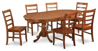 Double Pedestal Dining Table With 6 Chairs