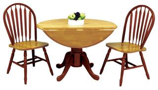 3-Piece Pedestal Dining Table Set