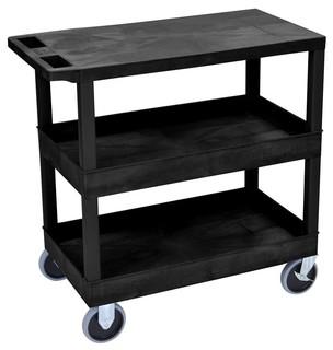 """35"""" Kitchen Cart Black"""