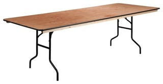 "Flash Furniture 36""x96"" Wood Folding Table Natural"