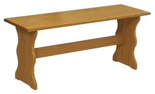 Wooden Nook Bench Natural Finish