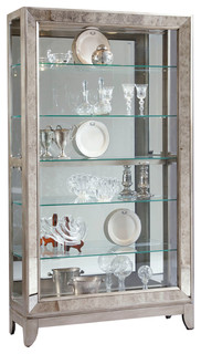 Pulaski Gold Platinum Antique Mirrored Curio