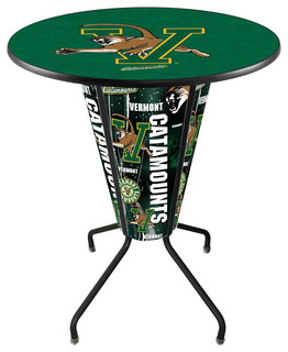 Vermont Catamounts Lighted Logo Pub Table Black