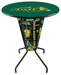NDSU Bison Lighted Logo Pub Table Black