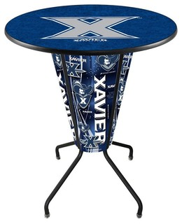 Xavier Musketeers Lighted Logo Pub Table Black