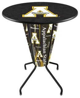 Appalachian State Mountaineers Lighted Logo Pub Table Black