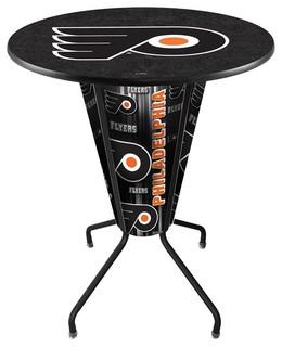 Philadelphia Flyers Lighted Logo Pub Table Black