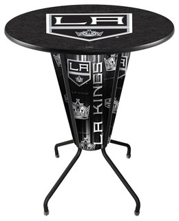 Los Angeles Kings Lighted Logo Pub Table Black
