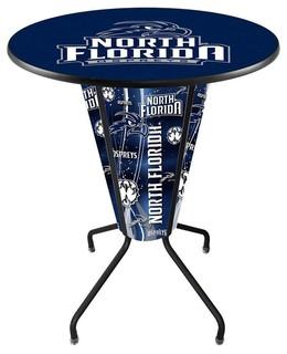 North Florida Ospreys Lighted Logo Pub Table Black