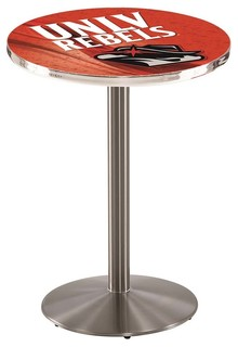 """UNLV Rebels Pub Table Brushed Stainless 28""""x36"""""""