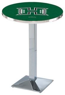 "Modern Hawaii Warriors Game Room Table Polished Chrome 28""x42"""
