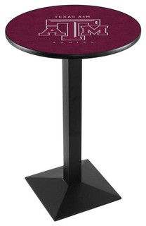 "Modern Texas A&M Aggies Game Room Table Black Wrinkle 28""x42"""