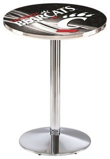 "Cincinnati Bearcats Pub Table Polished Chrome 36""x42"""