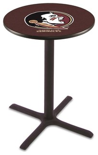 "Classic Black Base Florida State Seminoles Osceola Pub Table 36""x42"""