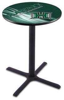 "Cross Bar Hawaii Warriors Pub Table 36""x36"""