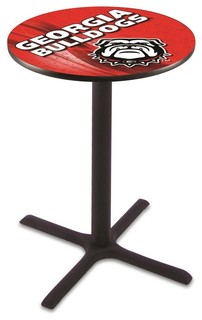 "Cross Bar Georgia Bulldogs Mascot Dawg Pub Table 36""x42"""