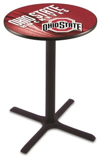 "Cross Bar Ohio State Buckeyes Pub Table 36""x42"""