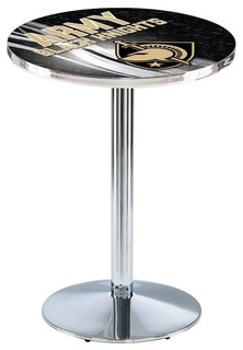 "Army Black Knights Pub Table Polished Chrome 28""x36"""