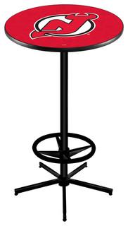 """Nashville Predators Bar Table With Foot Rest Black Wrinkle 36"""""""