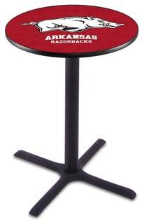 """Classic Black Base Arkansas Razorbacks Pub Table 36""""x36"""""""