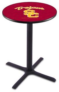 "Classic Black Base USC Trojans Pub Table 36""x42"""